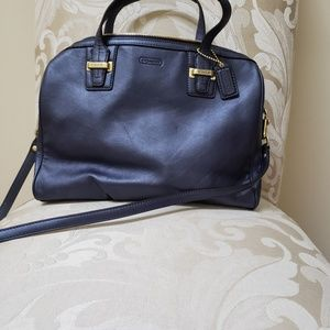 Elegant Navy blue Coach satchel